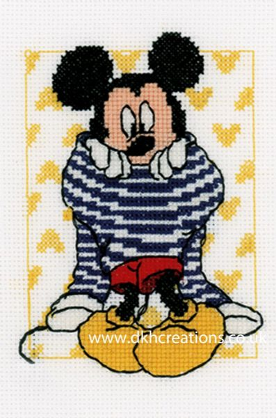 Disney Mickey Mouse Getting Dressed Cross Stitch Kit